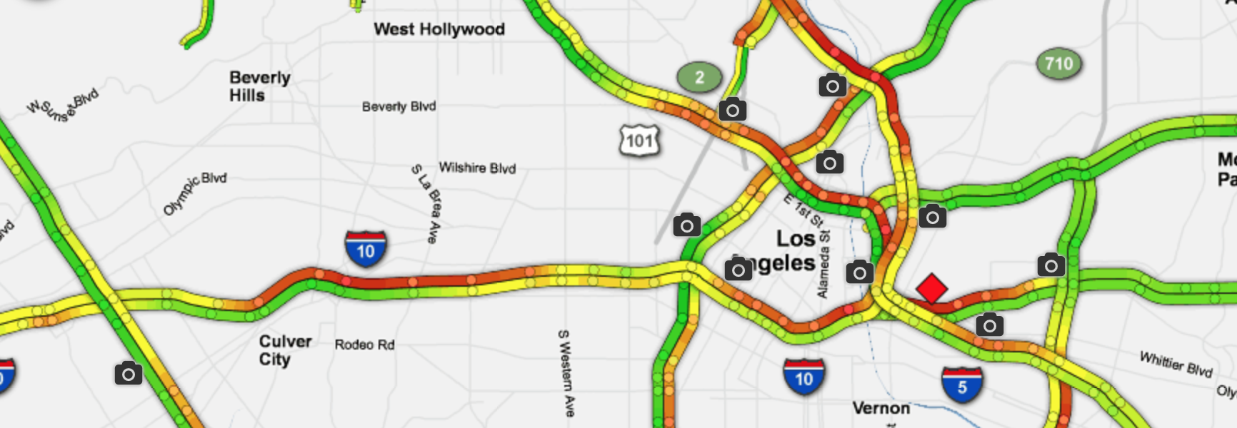 The LA freeway with the most Sigalerts
