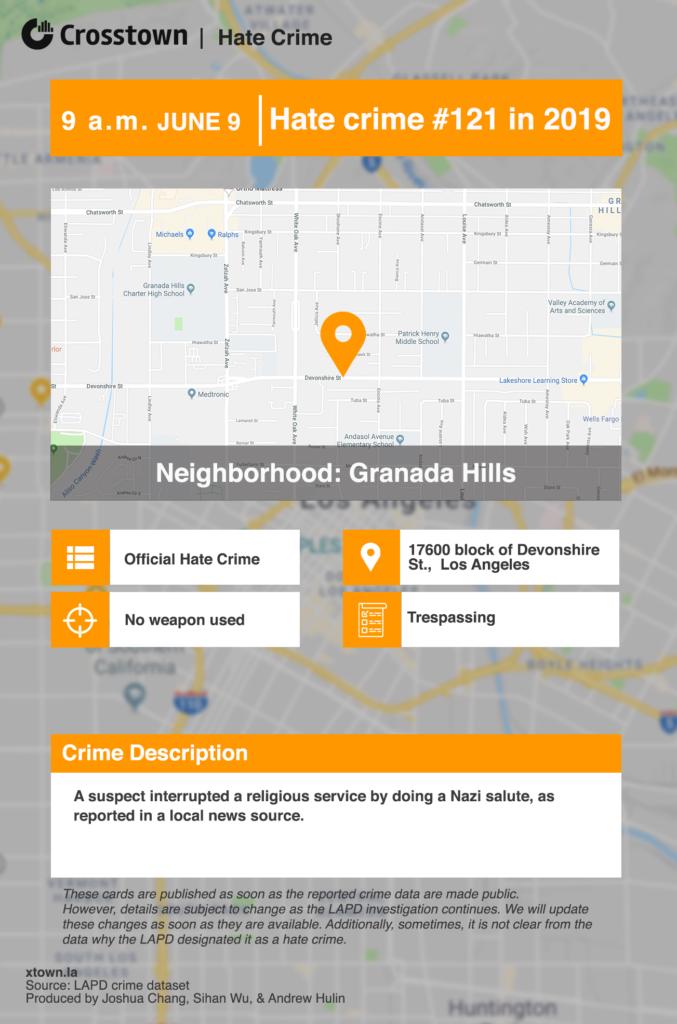 Los Angeles Hate Crime Alert: June 5 - June 11, 2019 – Crosstown