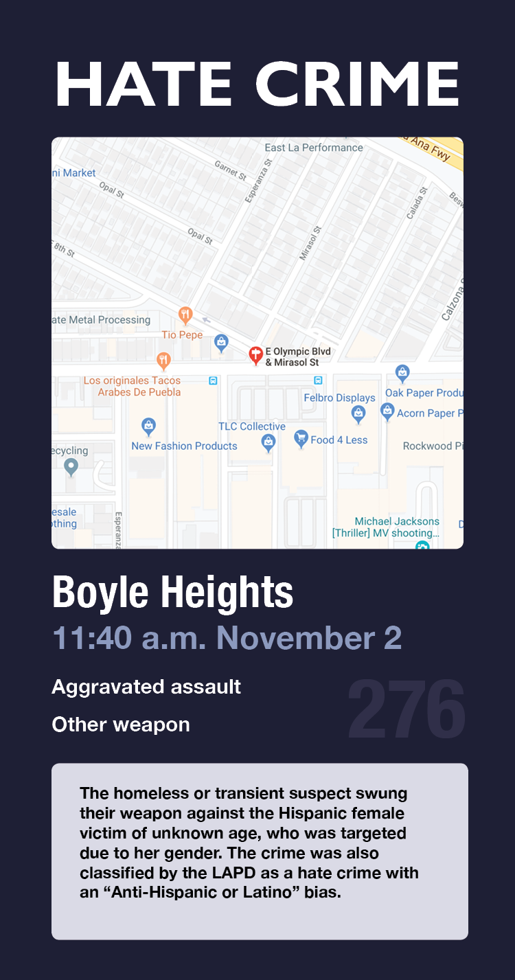 hate crime card 276 boyle heights