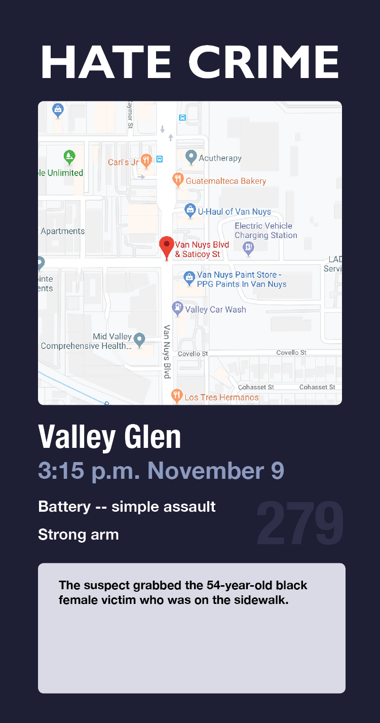 hate crime card 279 valley glen