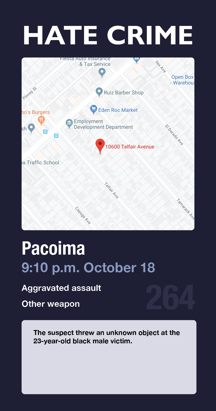 hate crime card 264 pacoima