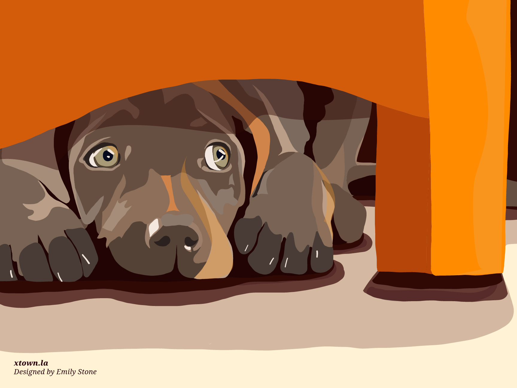 scared dog graphic