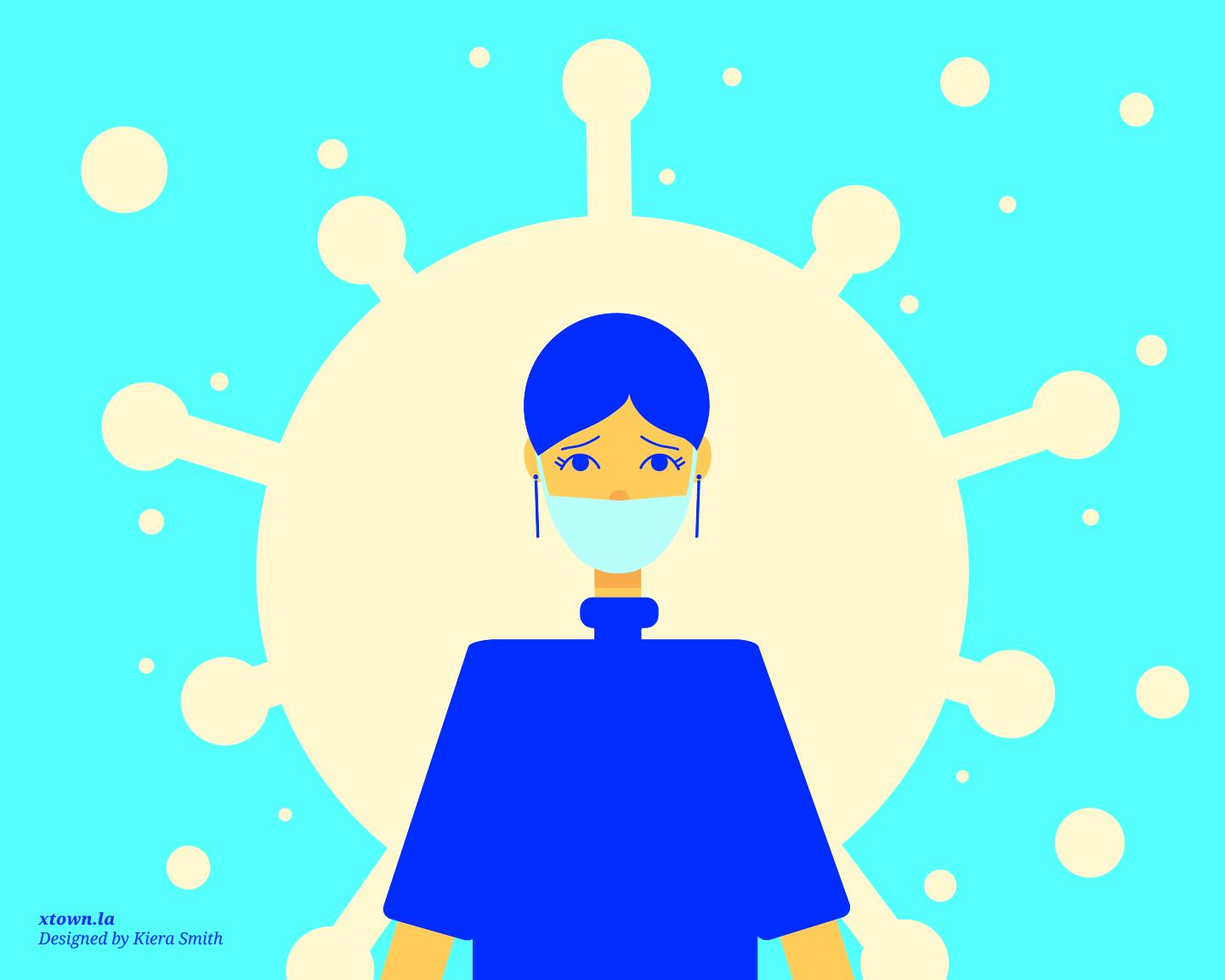 illustration of covid-19 nurse