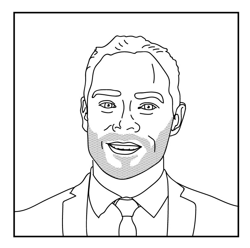 Illustration of Chris Mendez, Crosstown LA advisory board member