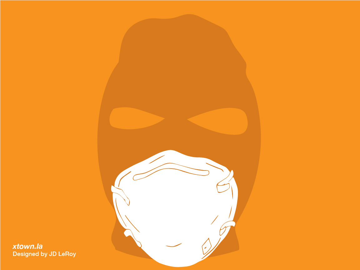 crime suspects wear masks during COVID-19
