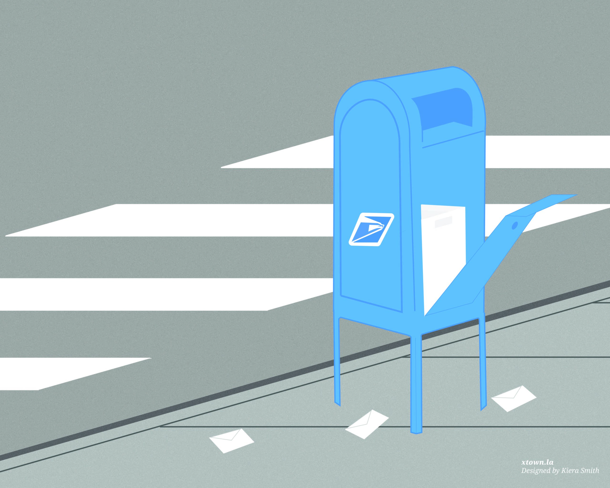 illustration of a mailbox that's been robbed