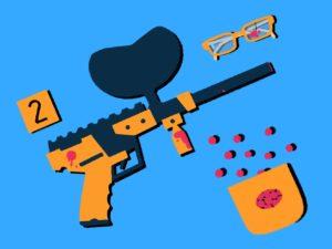 paintball gun illustration