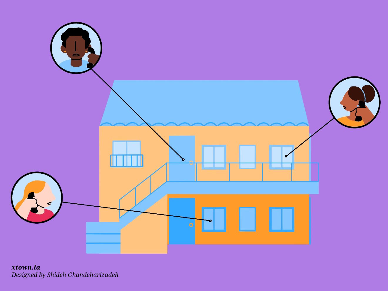 Illustration depicting landlord-tenant disputes during COVID-19