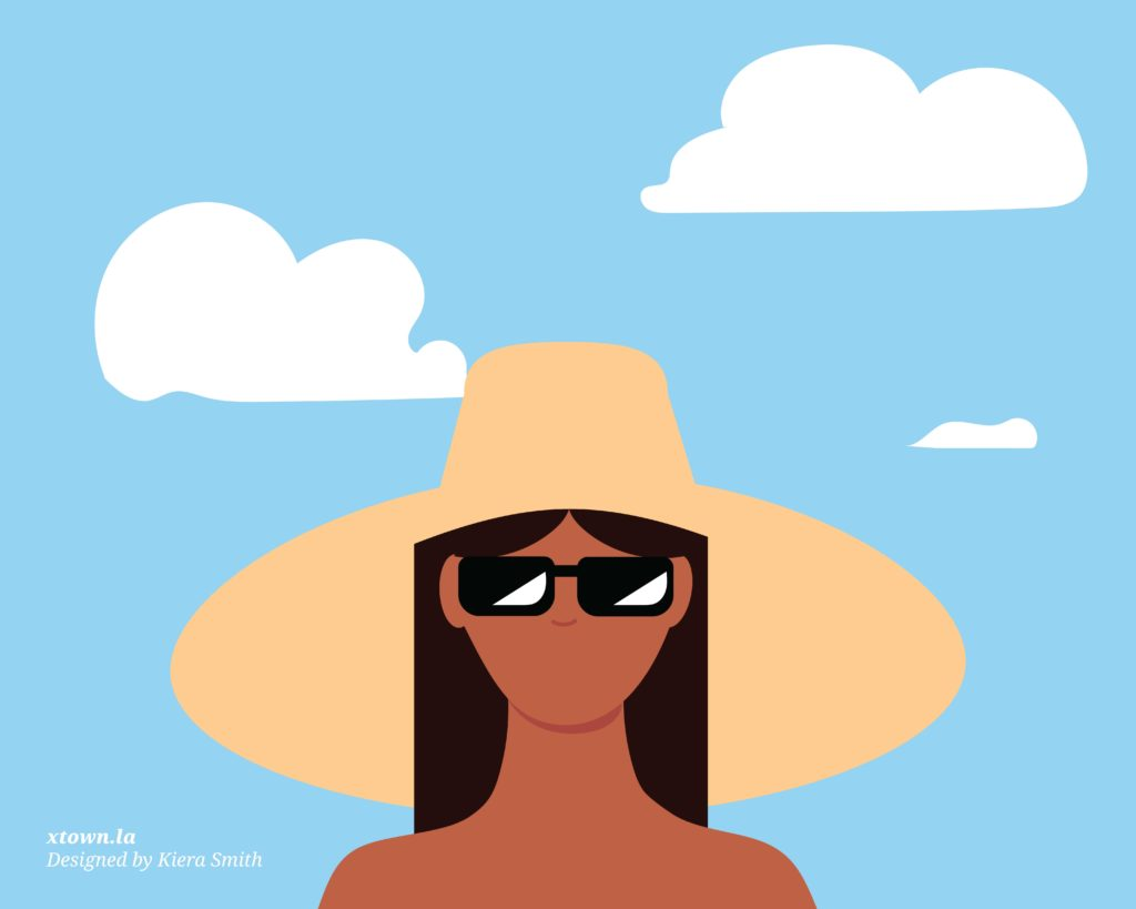 vacationer with hat illustration