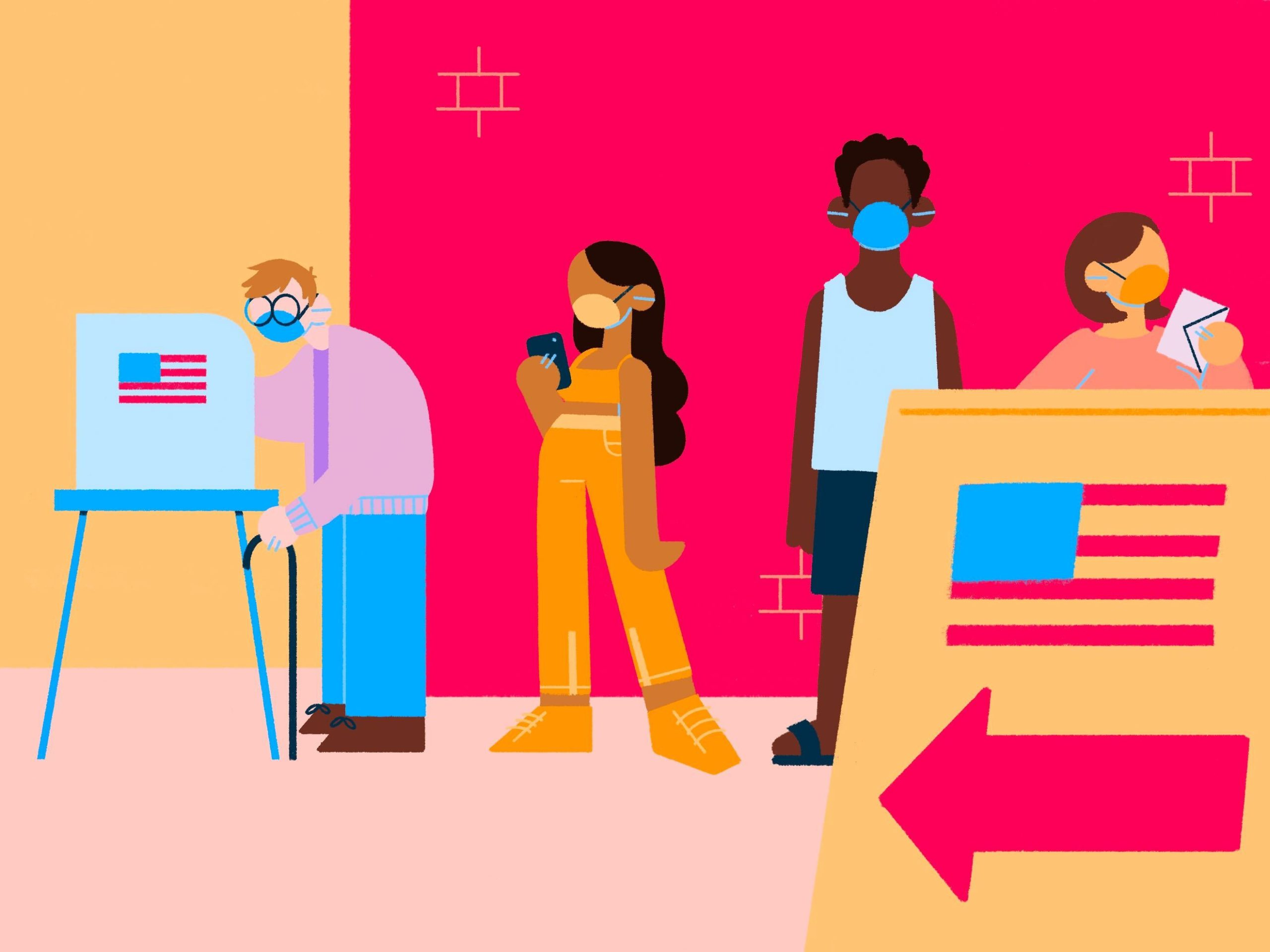 Illustration of LA's high voter turnout