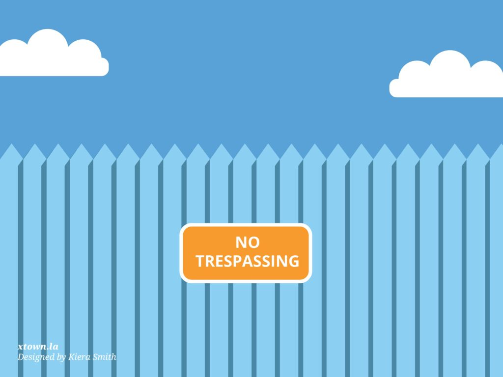 Illustration of a no trespassing sign