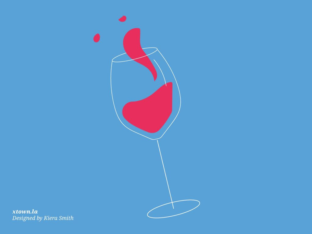 Illustration of a wine glass sloshing