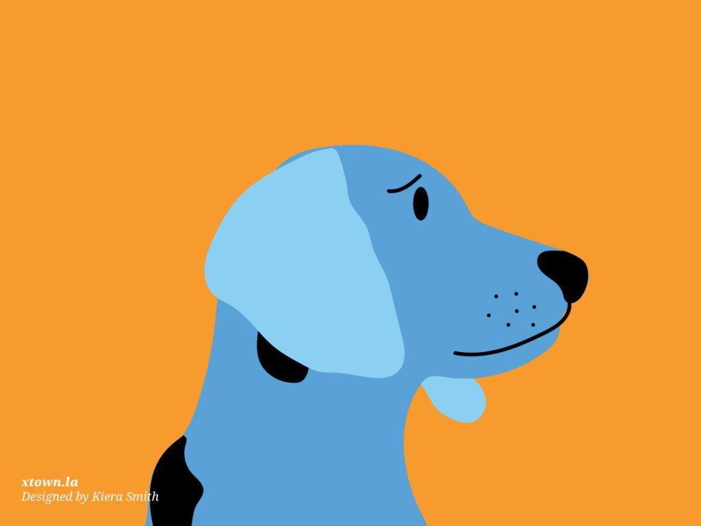 Illustration of a sad dog