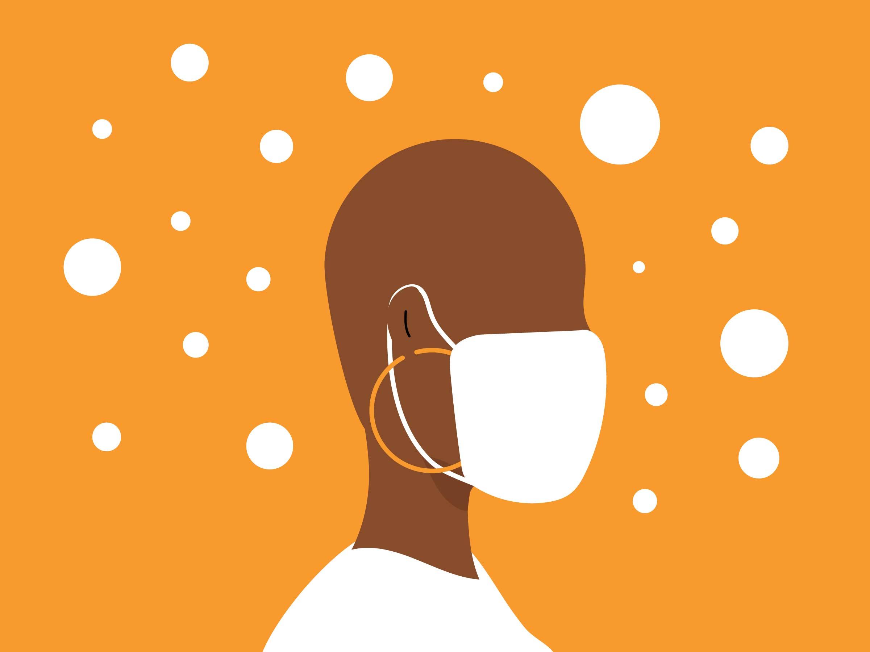 Illustration of masking up in LA