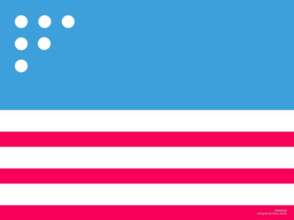 Illustration of US flag Memorial Day