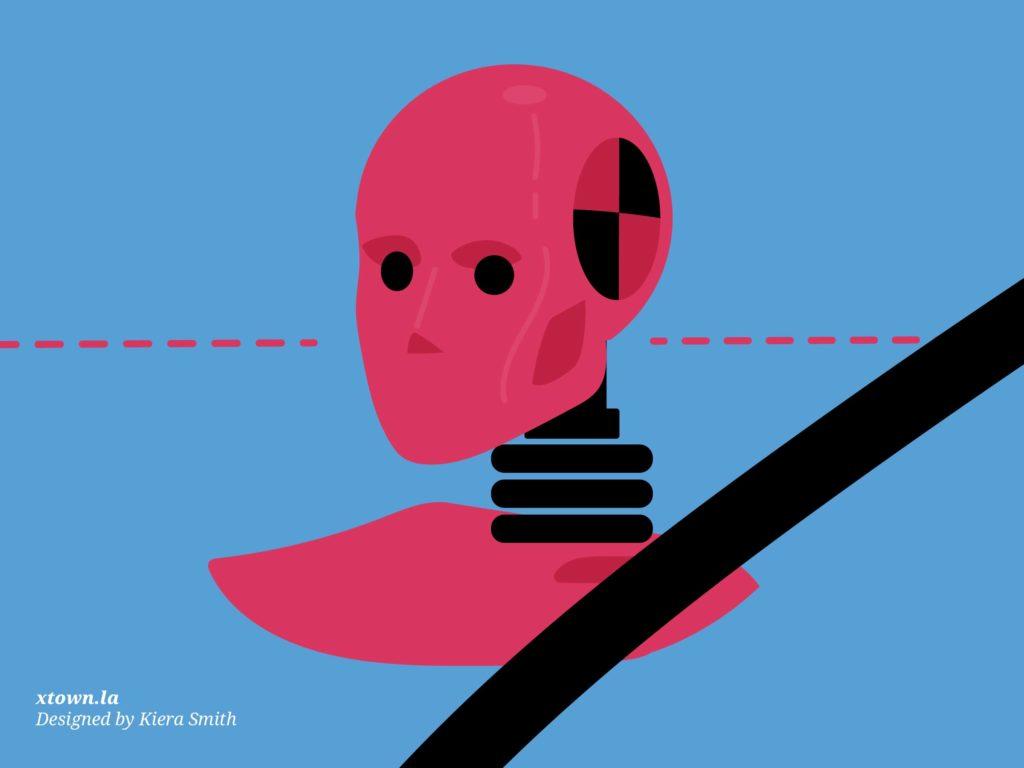 Illustration of a crash test dummy