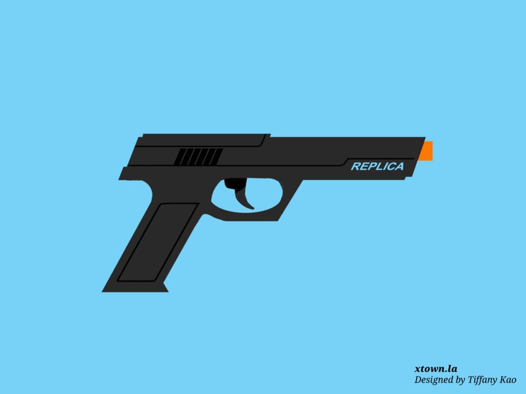 Illustration of a replica gun