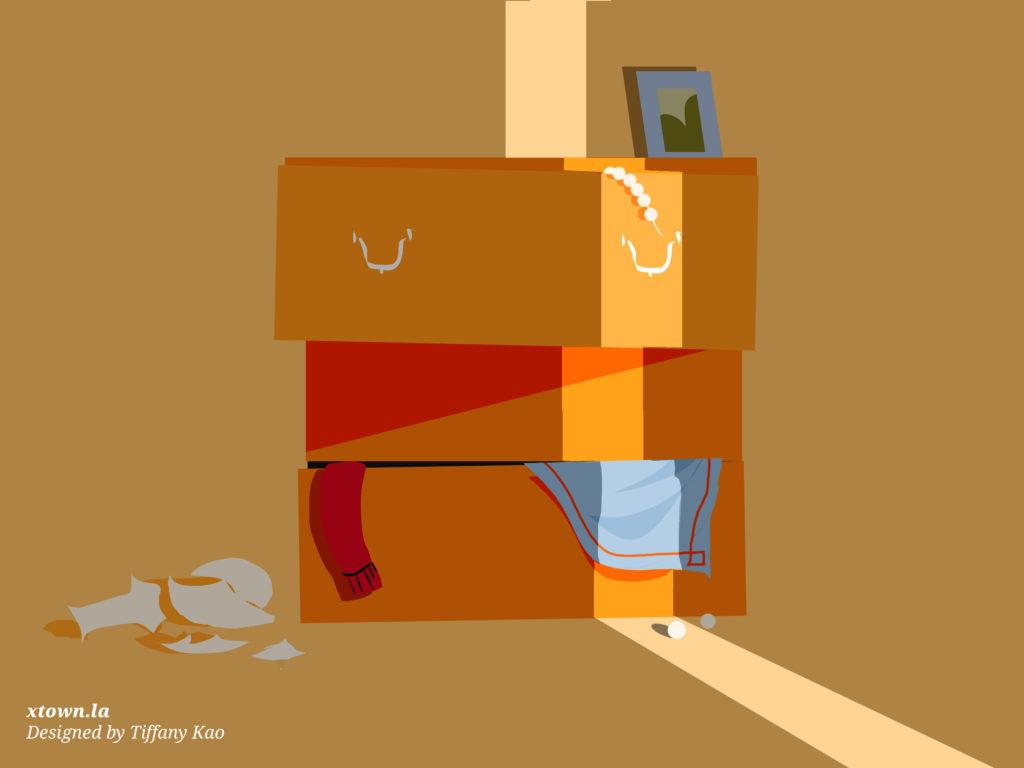 Illustration of a burglarized short term rental unit