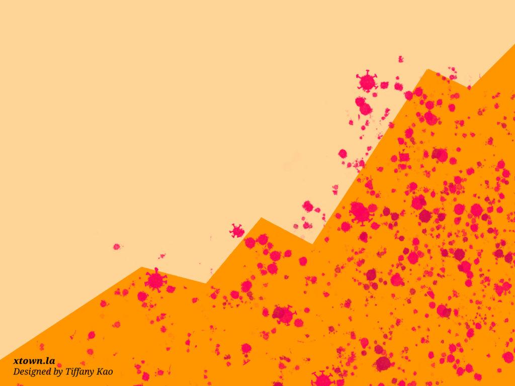 Illustration of coronavirus spread