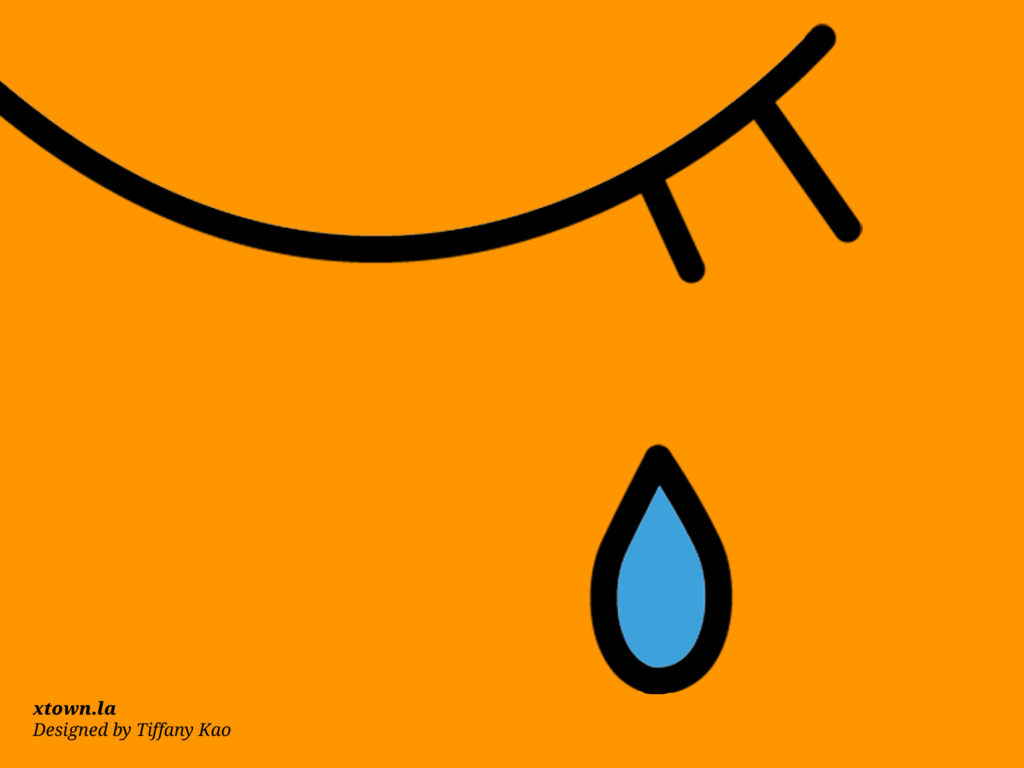 Illustration of a tear being shed