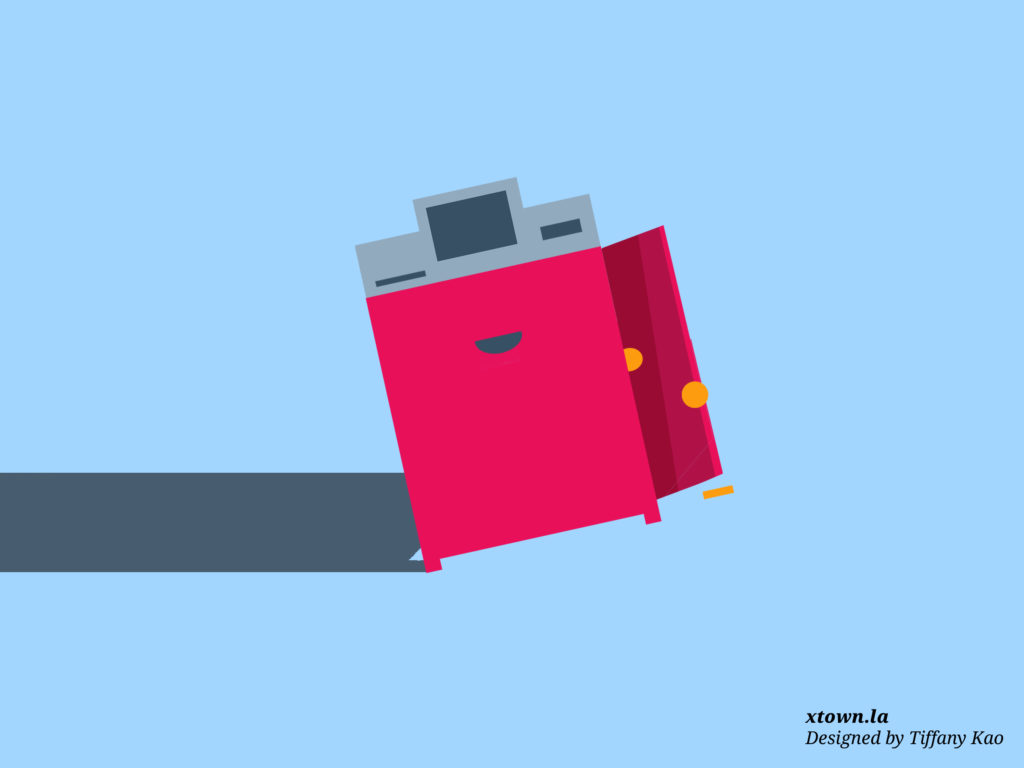 Illustration of a coin machine being broken into