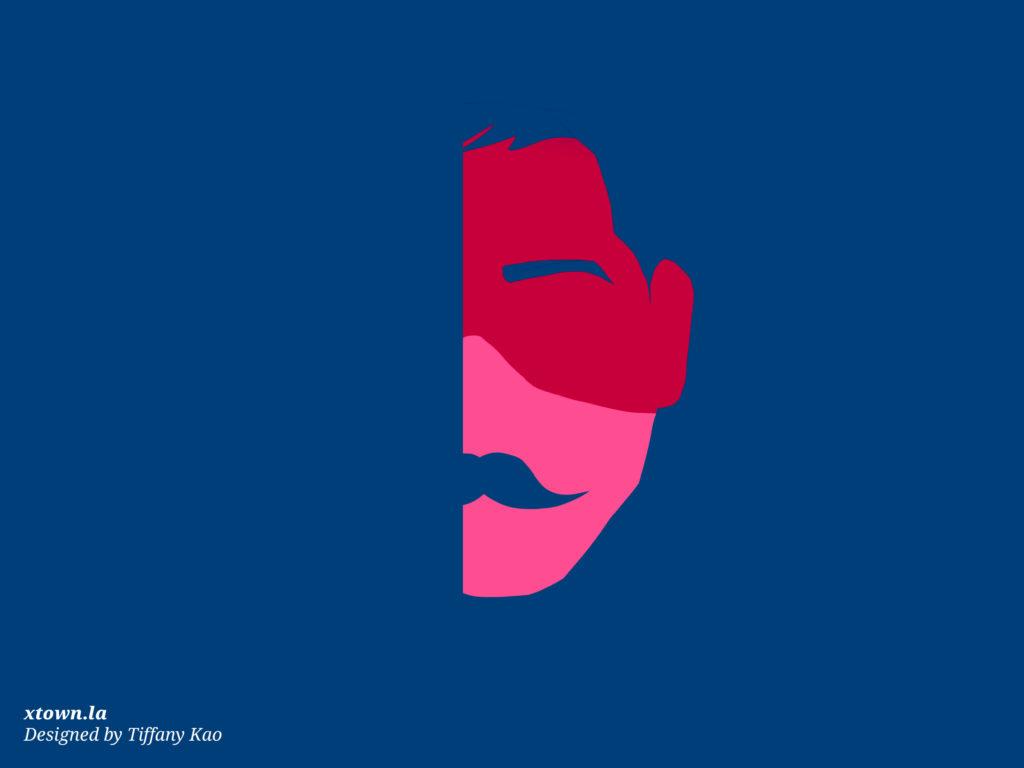 Illustration of a masked, partly hidden man