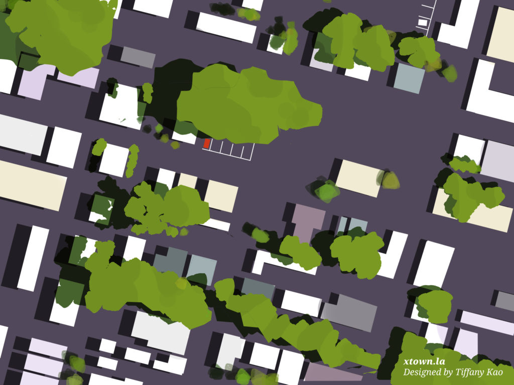 Illustration of a tree canopy from above